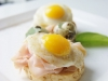 Catering / Walking dinner: eggs Benedict ontbijt