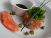 Catering / lunch: zalmtartaar met limoen en sjalot