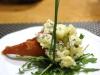 Catering / Walking dinner: gedroogde parmaham/ aardappel truffelsalade